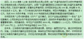 温氏湖南江华县万头奶牛项目签约